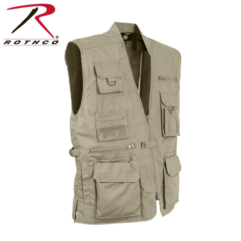 Rothco Concealed Carry Utitlity Vest with 20 Compartments - Khaki