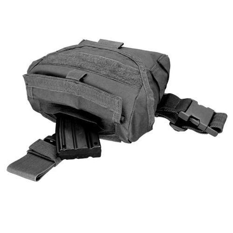 Condor - Drop Leg Dump Pouch - Black - Quickly store discarded mags - #MA38