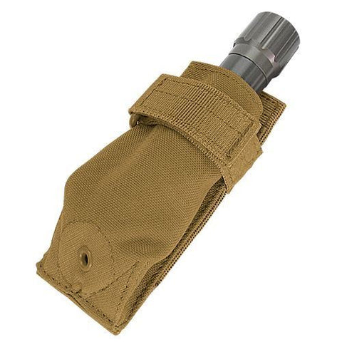 Condor Flashlight Pouch with Molle & Carabiner Brown