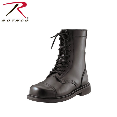 Rothco G.I. Type Steel Toe Leather Combat Boot Black