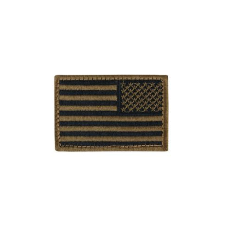 "Condor Reverse American Flag Patch - 2"" x 3""inch Coyote Brown"