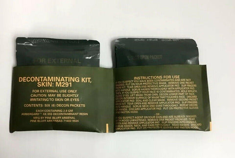M291 Skin Decontaminating Kit of 6 Decon Packets