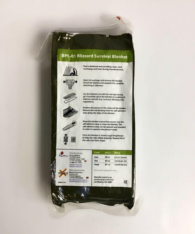 Blizzard Emergency Survival Blanket OD Green Extreme Cold Weather Brand New