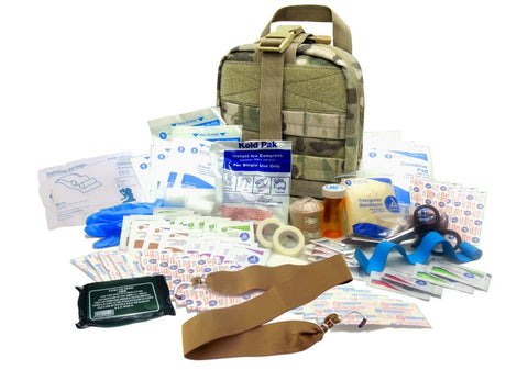 Military IFAK Level 2 Rip-Away EMT Pouch & 87 Piece First Aid Kit