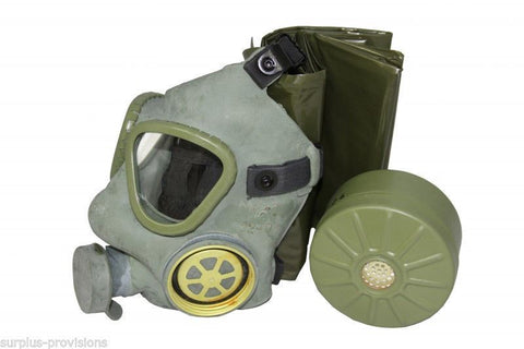 M1 Gas Mask, Filter and Canvas Bag - Military Surplus