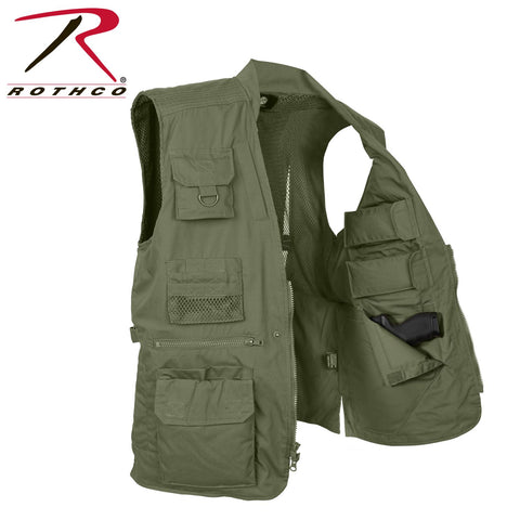 Rothco Concealed Carry Utitlity Vest with 20 Compartments - Green