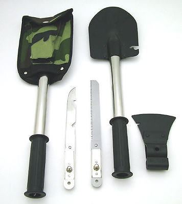Axe / Hatchet, Saw, Shovel, Skinning Knife, The Ultimate Survival Multi Tool!
