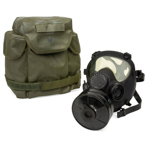 French ARF-A Gas Mask - Bag & Filter - Black, S/M