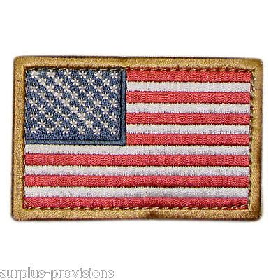 "Condor - American Flag Patch - 2"" x 3""inch Red, White & Blue with Velcro Back"