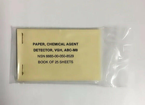 Paper Chemical Agent Detector, VGH, ABC-M8 (CAD) Book of 25 Sheets