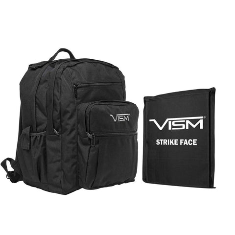 "VISM® by NcSTAR® NYLON DAY BACKPACK WITH 10""x12"" LEVEL IIIA SOFT BALLISTIC PANEL/ BLACK"