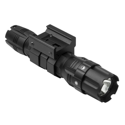 VISM® by NcSTAR® PRO SERIES HUNTER GREEN LED FLASHLIGHT/ 3W 250 LUMEN/ MODES: HIGH - LOW - STROBE/ WITH RAIL MOUNT