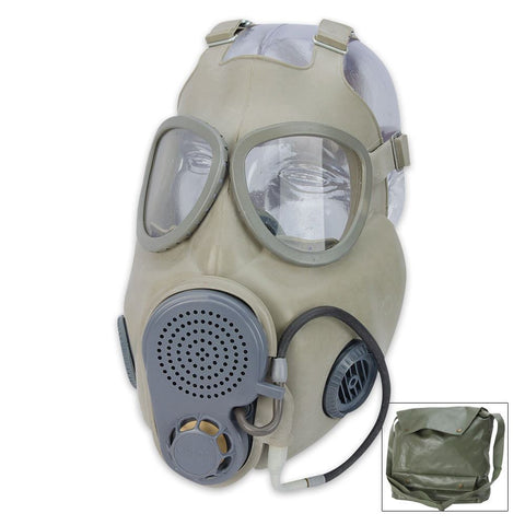 Czech Military M10M NBC Gas Mask w/Filter & Drinking Tube