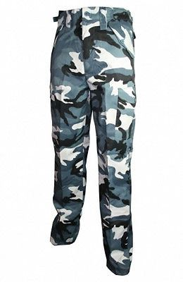 "New Blue Urban Camo BDU Army Cargo Pants -Choice of size- Military type #SL-2296[28""]"