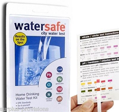 Watersafe Drinking Water Test Kit - City Tap Water Testing for 8 Contaminents!