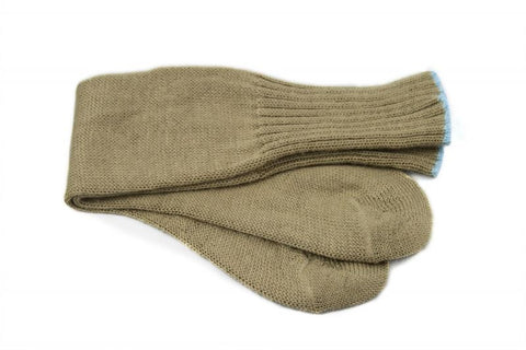 New Dutch Socks Tan with Blue Trim Size: 4-7