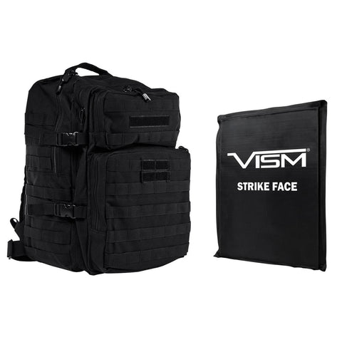"VISM® by NcSTAR® ASSAULT BACKPACK WITH 11""x14"" LEVEL IIIA SOFT BALLISTIC PANEL/ BLACK"