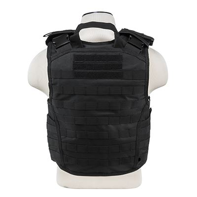 "Vism® By Ncstar® Expert Plate Carrier Vest (Up To 11""X14"" Armor Plate Pocket)/Large/Black"