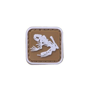 "1x1"" Frog PVC Patch Tan"