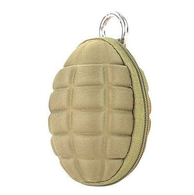 Condor Grenade Keychain Pouch Coyote - Holds Coins, keys etc #221043