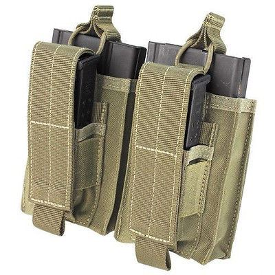 Condor 191040 Double Kangaroo Mag Pouch for 7.62 Rifle & Pistol Mags - Coyote