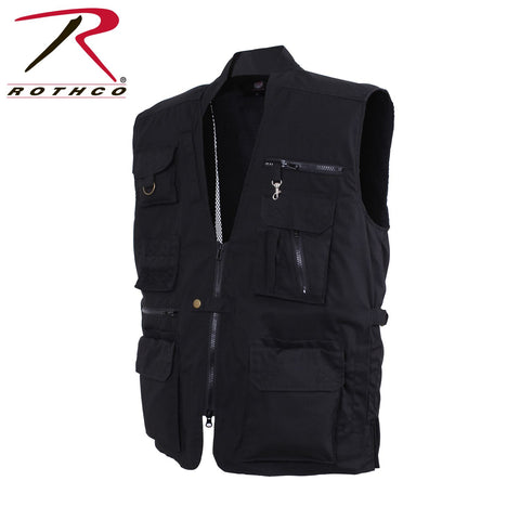 Rothco Concealed Carry Utitlity Vest with 20 Compartments - Black