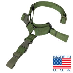 Condor US1008 Quick Release Tactical One Point Rifle / Carbine Gun Sling - OD