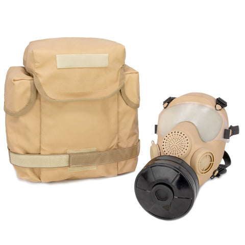 French ARF-A Gas Mask - Bag & Filter - Desert, S/M
