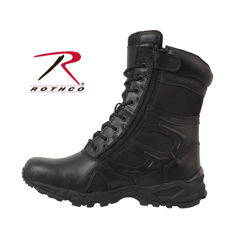 Rothco Forced Entry Black Deployment Boot With Side Zipper