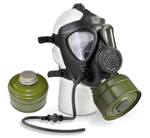 Israeli M15 Gas Mask with Two 40mm Filters