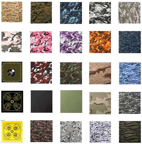 "Rothco Bandana Choice of Camo / Colors Size 22"" x 22"""