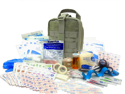 Military IFAK Level 1 Rip-Away EMT Pouch & 84 Piece First Aid Kit