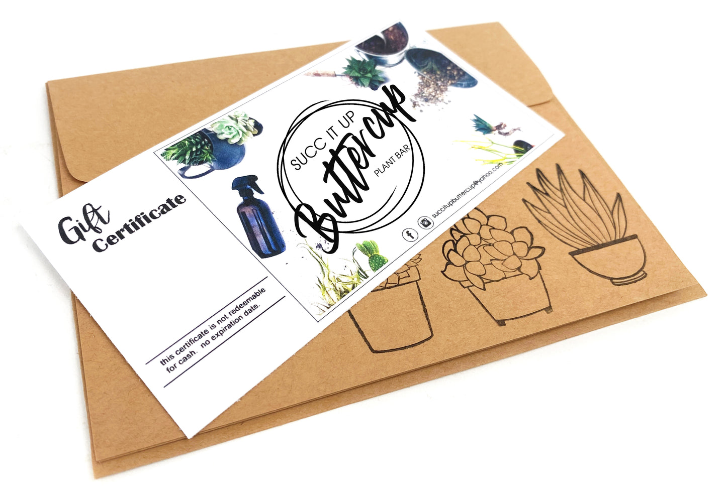 Succ It Up Buttercup (Plant Bar Public Event) Gift Certificate