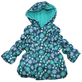 Girl Berry Floral Design Heavyweight Puffer Jacket