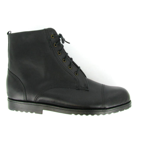 ST - BEBE - WOMEN'S Black Leather STEEL TOE