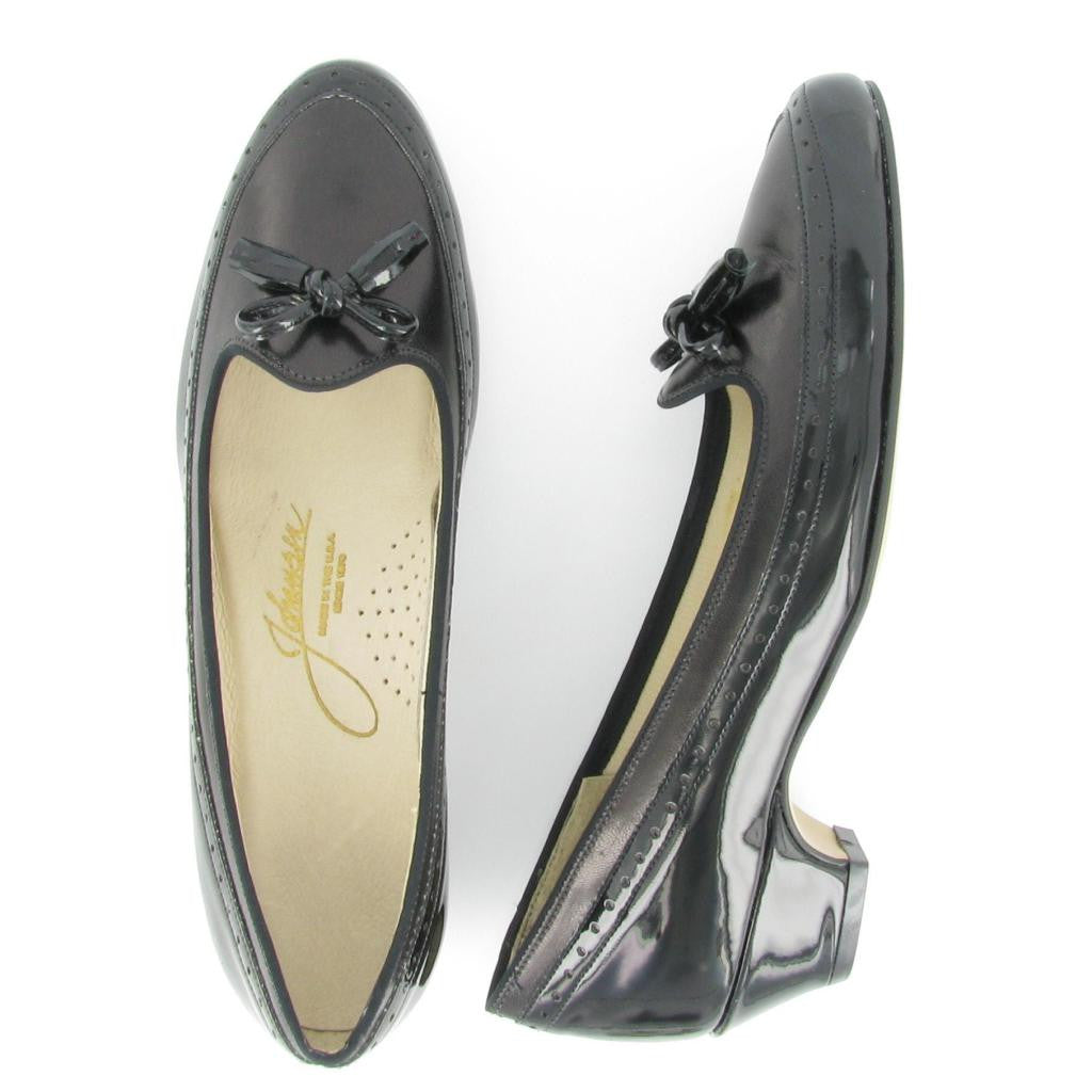 CHIT-CHAT, Black Patent/Black Leather