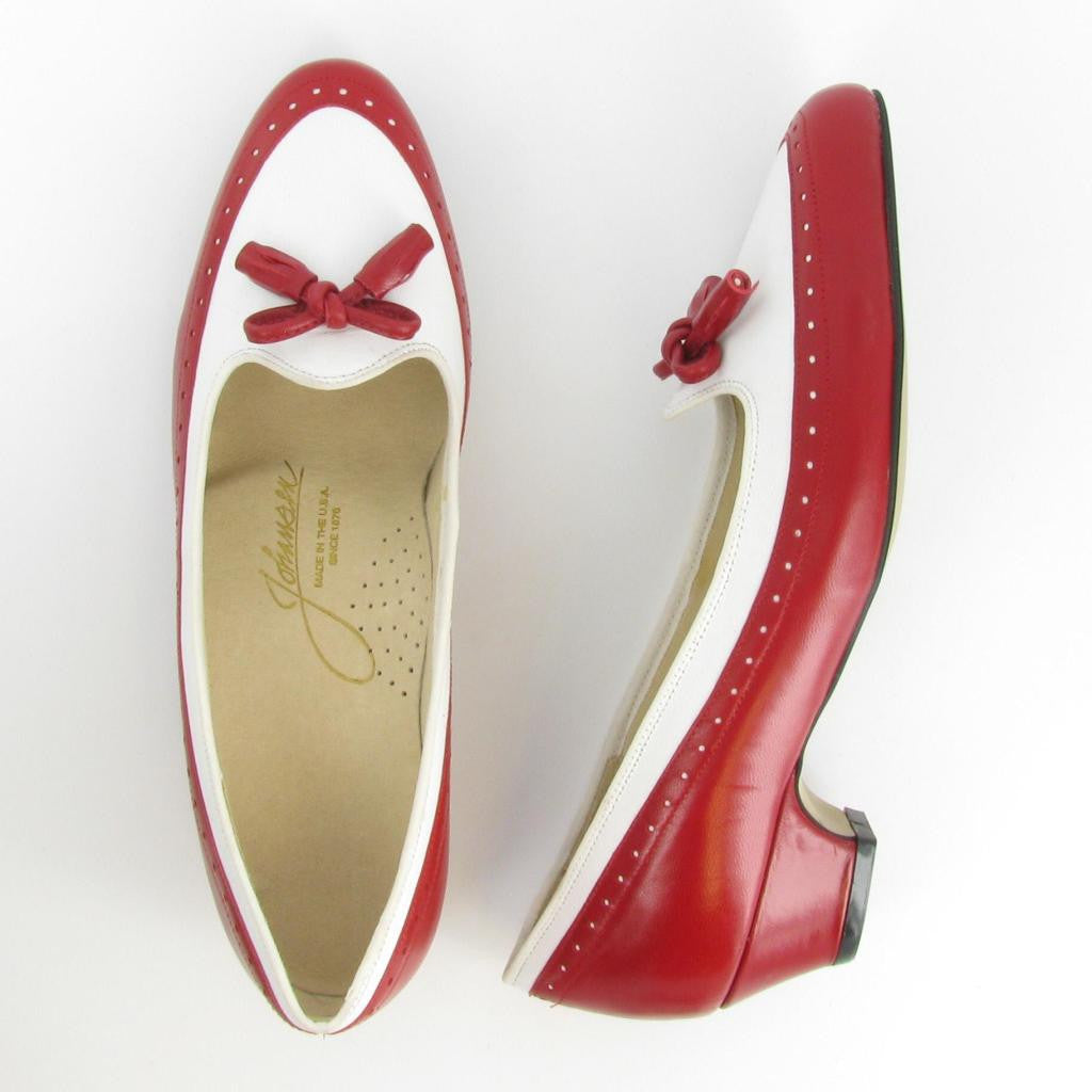 CHIT-CHAT, Red/ White Leather