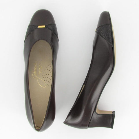 ELLEN - Brown Snake/  Brown Leather