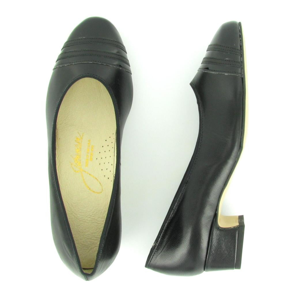 GLORIA, Black Leather/ Black Patent