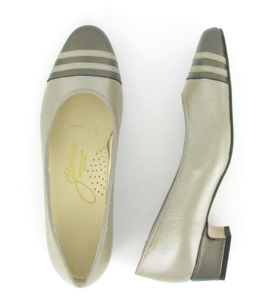 GLORIA, Fern Pewter/  Pewter Leather