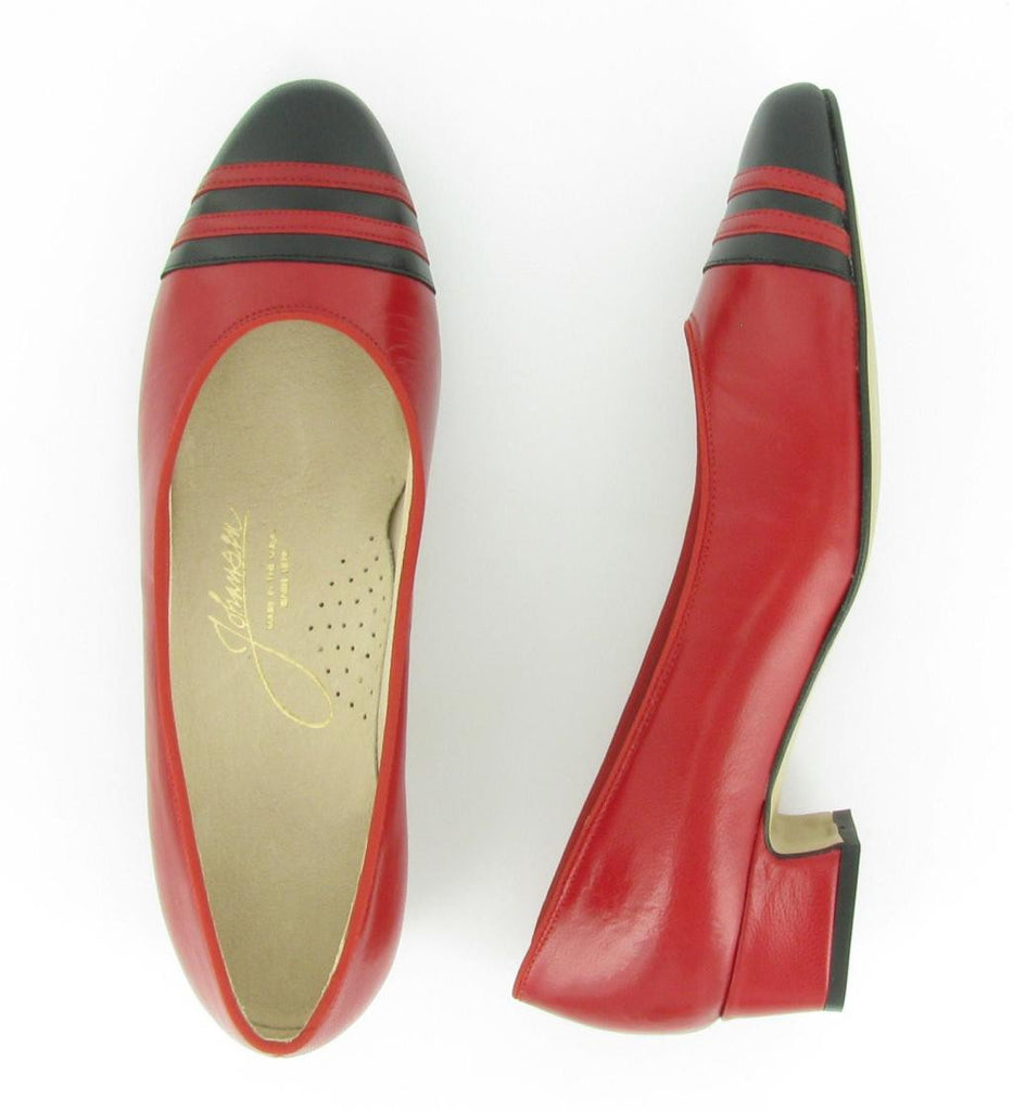 GLORIA, Red Leather/ Black Leather