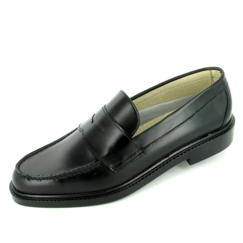 HALIFAX -  1010-881- OVERSIZE - Penny Loafer, Black Leather