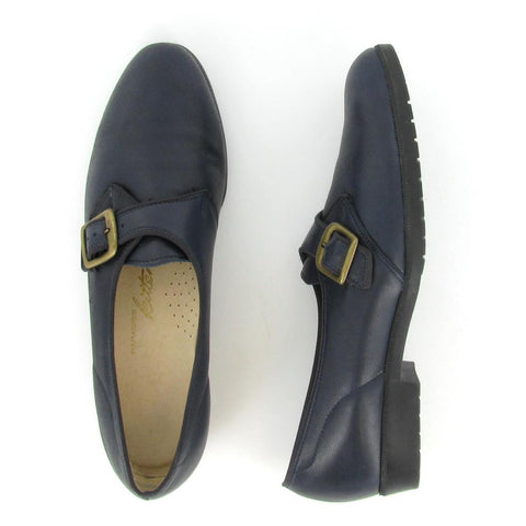 HALLIE - Navy Leather