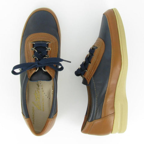 LO-TIDE - Navy/Camel Leather