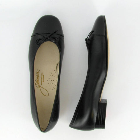 MAGGIE - Black Leather/Black Patent
