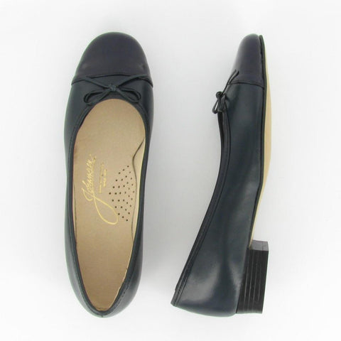 MAGGIE - Navy Leather/Navy Patent