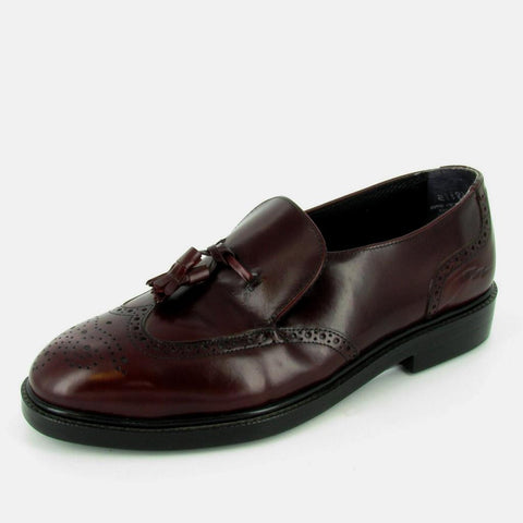 VIENNA - STEEL TOE - Burgundy Leather