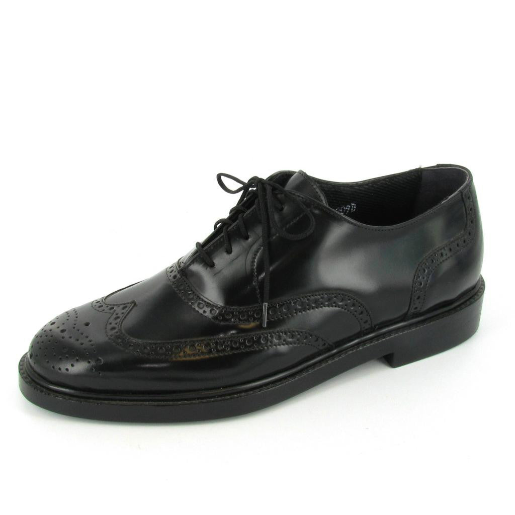 BRISTOL- STEEL TOE, Black Leather