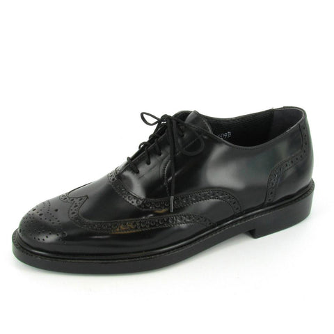 BRISTOL- STEEL TOE - Black Leather