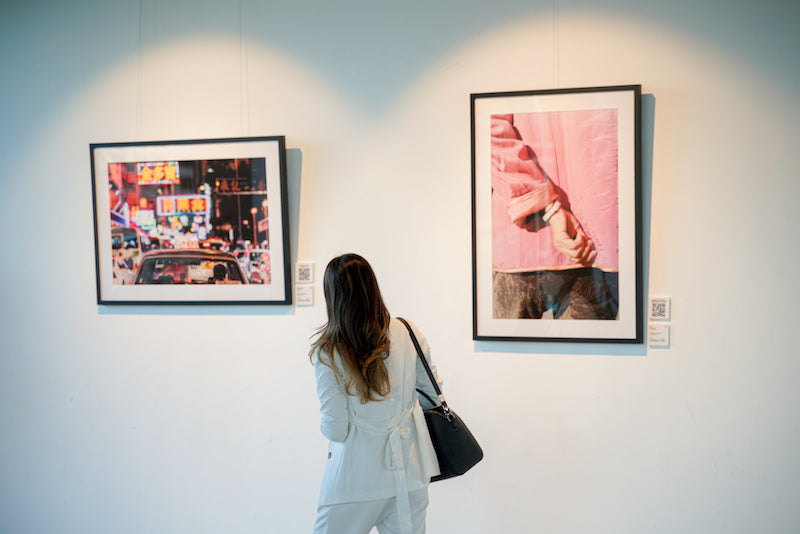 Photography Art Exhibition with art prints on the wall - Bamboo Scenes